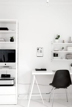 Black and White Workspaces - Homey Oh My!