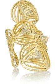 Ileana MakriGeometry 18-karat gold diamond ring