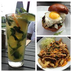 ROMERS BURGER - mango mojito, beef burger with egg, poutine 7/10 #food #vancouvereats #yummy #burger Yummy Burger, Egg Burger, Mango Mojito, Poutine, Japchae, Beef, Ethnic Recipes, Food, Burger With Egg