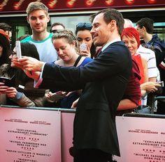 Michael Fassbender  with fans at the Edinbrugh Premiere - 27/09/2015