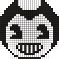 Bendy by Helljaggers on Kandi Patterns Easy Perler Bead Patterns, Crochet Motif Patterns, Pony Bead Patterns, Perler Bead Templates, Kandi Patterns, Diy Perler Beads, Funny Pixel Art, Minecraft Pixel Art, Minecraft Crafts