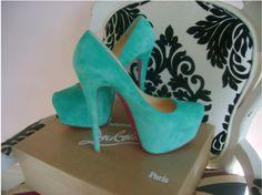 Turquoise Christian Louboutin's...I need these!