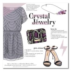 """Crystal Jewelry"" by ifchic ❤ liked on Polyvore featuring Walter Baker, H&M, Dee Keller, Mohzy, Sergei Grinko, contestentry, crystaljewelry and ifchic"