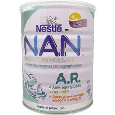 Nestlé Nan AR 800 gramos es la formula de nestlé para problemas de regurgitación en lactantes que se soluciona con almidón de patata y lacto...