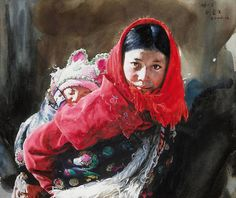 Watercolor Painter Uses Traditional Techniques to Reveal Expressive Faces of Tibet - My Modern Met