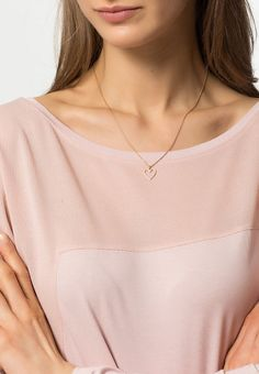 Pilgrim Necklace - roségold-coloured for with free delivery at Zalando Skagen, Topshop, Rose Gold Color, Pilgrim, Arrow Necklace, Best Gifts, V Neck, Free Delivery, Jewelry