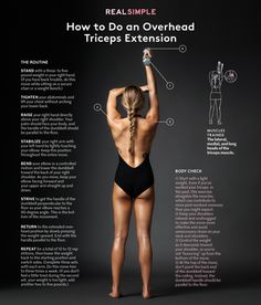 How to Do an Overhead Triceps Extension   With just one move, you'll be well on your way to killer arms.
