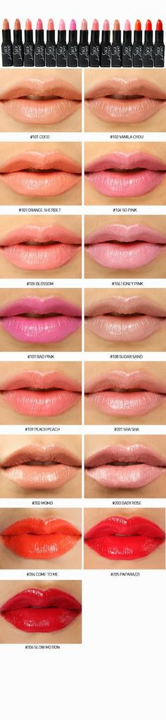 ¿Cual es tu tono favorito? #labial #lips #color