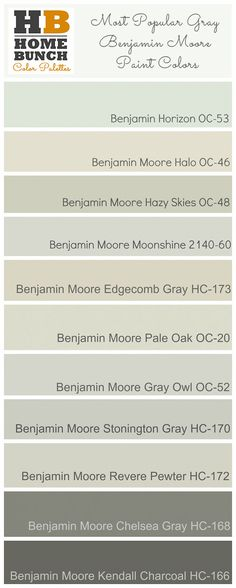 Most Popular Benjamin Moore Gray Paint Colors 236 x 588