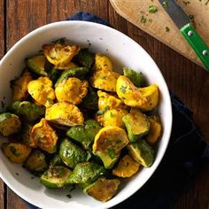 Garlic-Herb Pattypan Squash Recipe -The first time I grew a garden, I harvested summer squash and cooked it with garlic and herbs. Using pattypan squash is a creative twist. —Kaycee Mason, Siloam Springs, AR