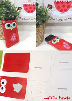 funda de fieltro para el móvil. Ipod, Holiday Club, Tablets, Phone Covers, Diy And Crafts, Sewing Projects, Easy Diy, Gift Wrapping, How To Make