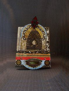 Vintage Found-Object Artist Altar by Leigh Bennett [Original Art] by MaGriffeBoutique on Etsy