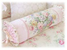 shabby chic bolster pillow - Recherche Google