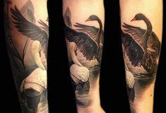 Swans tattoo