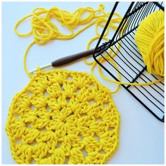 my world of wool: a new crochet doily and Band of Horses - The Funeral