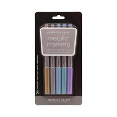 American Crafts Broad Metallic Markers Multicoloured