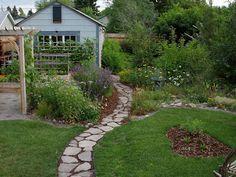 Front walkway! Montana Wildlife Gardener: How to build an urbanite path