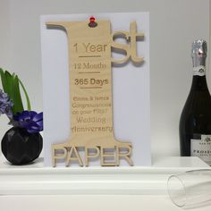 1st Wedding Anniversary Meaning Card Personalised Giant