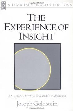 The Experience of Insight: A Simple and Direct Guide to Buddhist Meditation by Joseph Goldstein. A modern classic of unusually clear, practical instruction for the practice of Buddhist meditation: sitting and walking meditation, how one relates with the breath, feelings, thought, sense perceptions, consciousness, and everyday activities. Basic Buddhist topics such as the nature of karma, the four noble truths, the factors of enlightenment, dependent origination, and devotion are discussed.