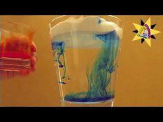 Proefje: regenbui maken met scheerschuim, kleurstof en een glas water - YouTube