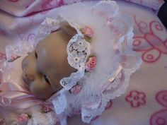 Dream 0 3 Baby Dolls Pink Frilly Bonnet Reborn 20 24"