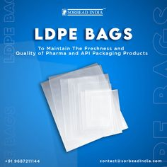 We provide #LDPEbags which are #USFDA approved antistatic bags. Our bags are widely used in #API, #excipients, #pharmaceutical, #powders, #bulktablets & #capsulespackaging For More Details contact@sorbeadindia.com +91 9687211144 www.ldpebag.com Personal Care, Bags, Handbags, Self Care, Personal Hygiene, Bag, Totes, Hand Bags