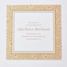 A beautiful, vintage design, Stella Save the Date!