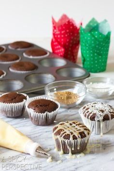 Glazed Gingerbread Muffins. This flavor combo of sweet and spicy tastes just like the holidays. @spicyperspectiv
