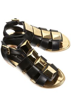 Very Wrath of the Titans looking Tough Luxe Gladiators - - PLUTO Metallic Prism Sandals - Topshop