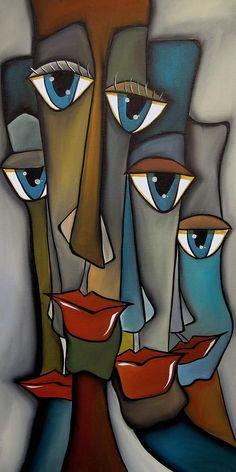 Tight Knit By Fidostudio por Tom Fedro - Fidostudio - Pinturas de Thomas Fedro Canvas Art, Canvas Prints, Art Prints, Pop Art Collage, Cubism Art, Face Art, African Art, Painting Inspiration, Painting & Drawing