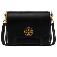 Tory Burch Alastair Bag ($595) ❤ liked on Polyvore featuring bags, handbags, black, equestrian purse, convertible bag, strap purse, crossbody purses and tory burch bags