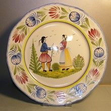 Dinner Plate, Tradition  - I got this one at Disney World It's Quimper ware from France