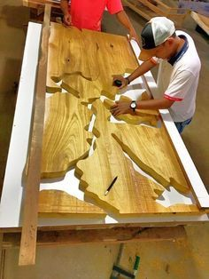 process making resin table