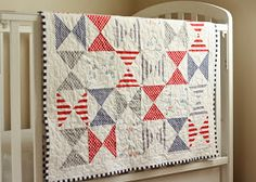 Project 12 Quilts: Hourglass Quilt & Patchwork Pillow for Baby