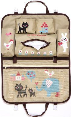 blue striped car bag with animals cat elephant Japan 9  Aprende más sobre de los bebés en somosmamas.