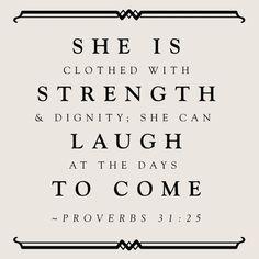 Proverbs 31v25
