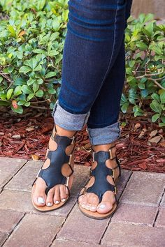 Stretch Gladiator Sandals More