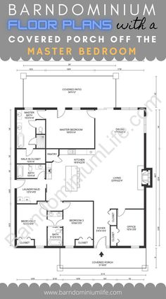 Barn Homes Floor Plans, Pole Barn House Plans, Modern Floor Plans, Modern House Plans, Small House Plans, House Floor Plans, Cabin Plans, Metal Building Homes, Building A House
