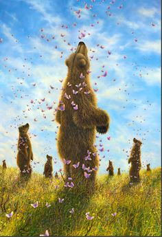 Robert Bissell - Contemporary fine art and prints Cute Bear, The Enchantments, Bear Art, Wildlife Art, Enchanted, Fantasy Art, Art Gallery, Illustration Art, Sculpture