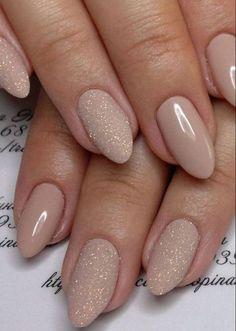 nude spring nail design