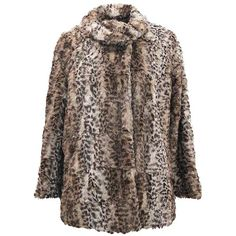 Brown Faux Fur Plush Leopard Womens Coat ($70) ❤ liked on Polyvore featuring outerwear, coats, brown, jackets, faux fur collar coat, fake fur leopard coat, collar coat, faux fur leopard coats and faux fur coat
