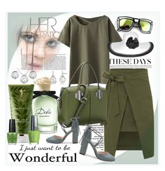 """""""Olive"""" by ane-twist ❤ liked on Polyvore featuring Reverie, Nine West, Dolce&Gabbana, RAHUA, OPI, outfit, Elegant, fashionWeek and polyvoreeditoria"""