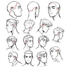 EtheringtonBrothers -   # Guy Drawing, Manga Drawing, Character Drawing, Drawing People, Drawing Tips, Drawing Tutorials, Drawing Faces, Drawing Male Hair, Gesture Drawing