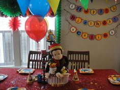 """Photo 12 of 26: Curious George / Birthday """"Curious Colin's 1st Curious George Party"""" 