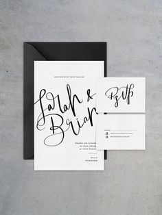 black and white wedding invitations/ bold wedding invitations/ modern simple wedding invitations