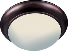 """Maxim 5852 3 Light 16.5"""" Wide Flush Mount Ceiling Fixture from the Essentials -"""