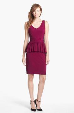 sleeveless jersey peplum dress