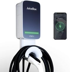 JuiceBox 40, the best-selling smart home electric vehicle charger, combines performance and value. Enjoyed by thousands of satisfied EV drivers, JuiceBox delivers all the safety and smart charging features you need to make home charging convenient, reliable and cost-effective. Built on the universal J1772 charging standard, JuiceBox is a Level 2 charging station that can power all electric vehicles on the market today, including Teslas via a Tesla-provided adapter. Ev Charger, Electric Car Charger, Best Electric Car, Electric Cars, Electric Vehicle, Car Accessories For Guys, Car Interior Accessories, Bently Car, Malibu Car
