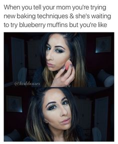 Lol her face Beauty Kit, Beauty Makeup, Beauty Hacks, Beauty Blogs, Makeup Humor, Makeup Quotes, Funny Makeup, Putting On Makeup, Blue Berry Muffins