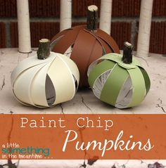 A Little Something in the Meantime: Quick and Easy Paint Chip Pumpkins